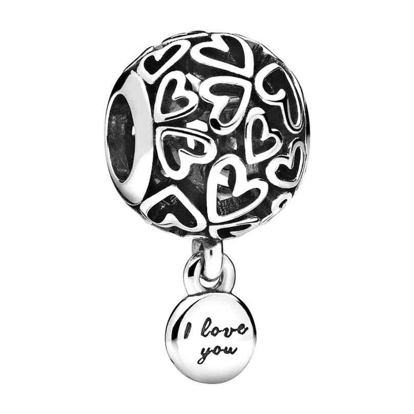 Pandora 798606C00 Silber Charm Openwork Love Hearts 5700302840056