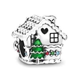 Pandora 798471C01 Silver Charm Gingerbread House