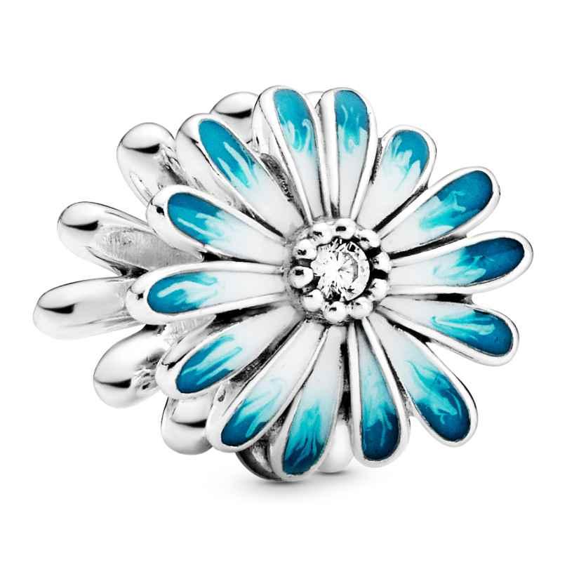 Pandora 798775C01 Silber Bead-Charm Blaues Gänseblümchen 5700302864335