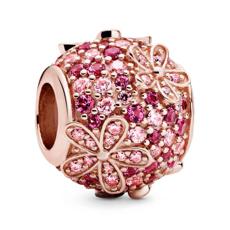 Pandora 788797C01 Rose Bead-Charm Pink Pavé Gänseblümchen 5700302864205