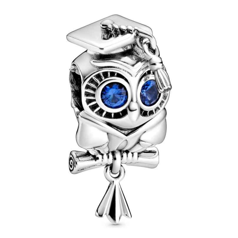 Pandora 798907C01 Silber Bead-Charm Weise Eule Schulabschluss 5700302869606