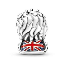 Pandora 799032C01 Silber Charm Britischer Union Jack Löwe