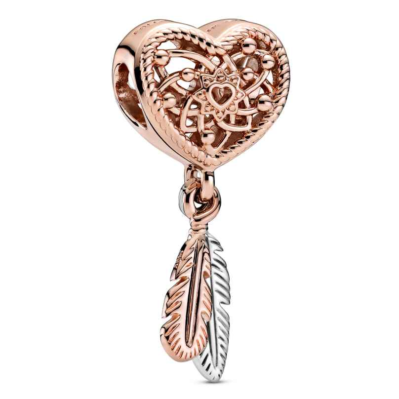 Pandora 789068C00 Rose Charm Dreamcatcher with 2 Feathers 5700302895551