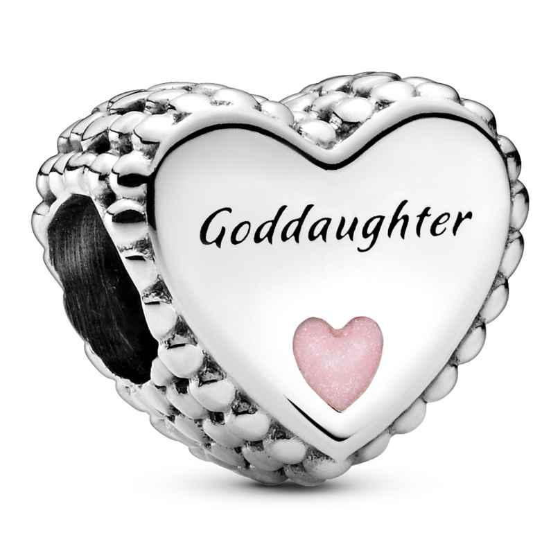 Pandora 799147C01 Silver Charm Heart Goddaughter 5700302899177