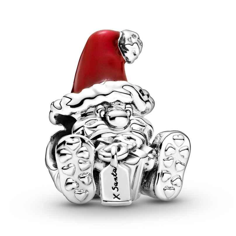 Pandora 799213C01 Charm Weihnachtsmann mit Geschenk Silber 5700302900439