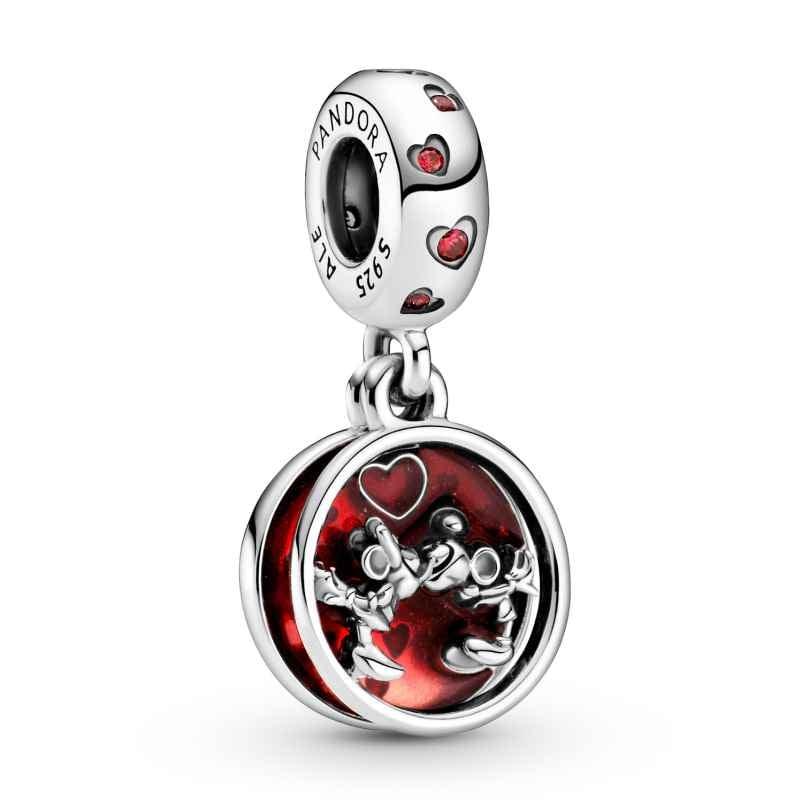 Pandora 799298C01 Silber Charm-Anhänger Micky & Minnie Maus Liebe und Küsse 5700302908268