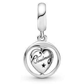 Pandora 799266C01 Silber Charm-Anhänger Für Immer & Ewig Seelenverwandte