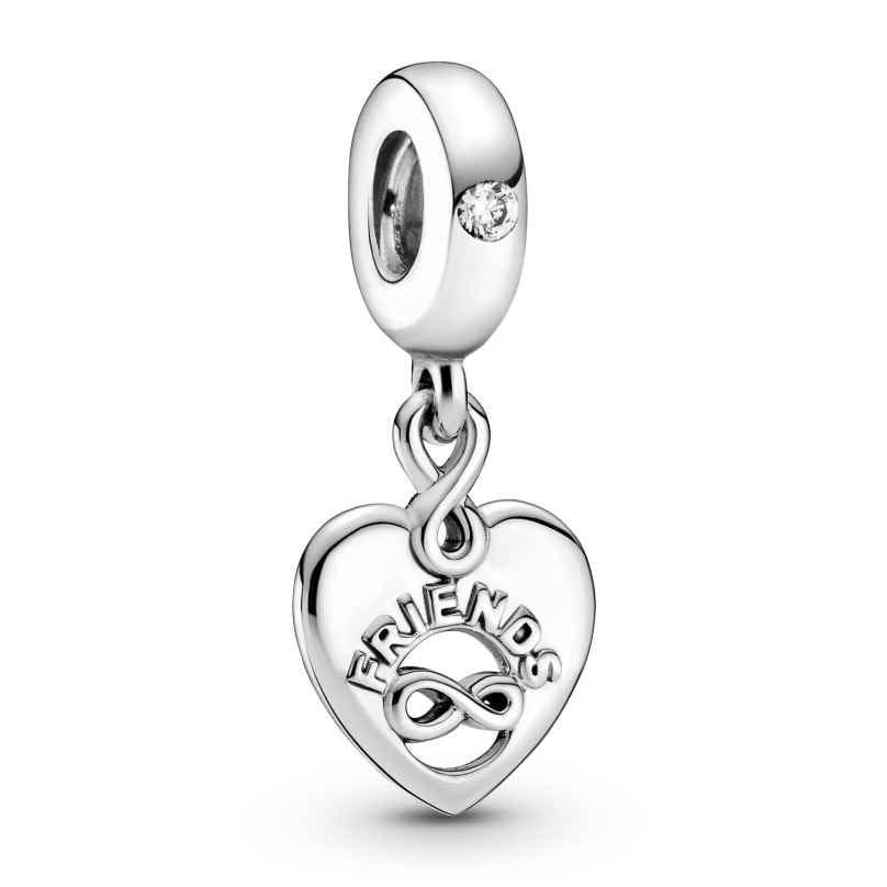 Pandora 799294C01 Silber Charm-Anhänger Freunde für immer Herz 5700302908244