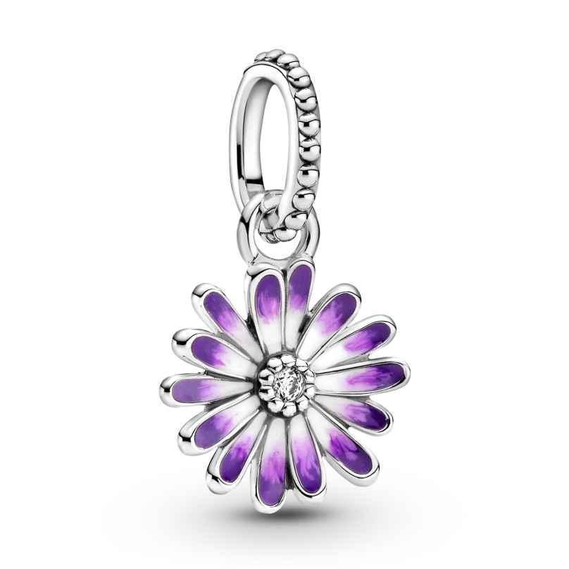 Pandora 798771C01 Silber Charm-Anhänger Lilafarbenes Gänseblümchen 5700302916485