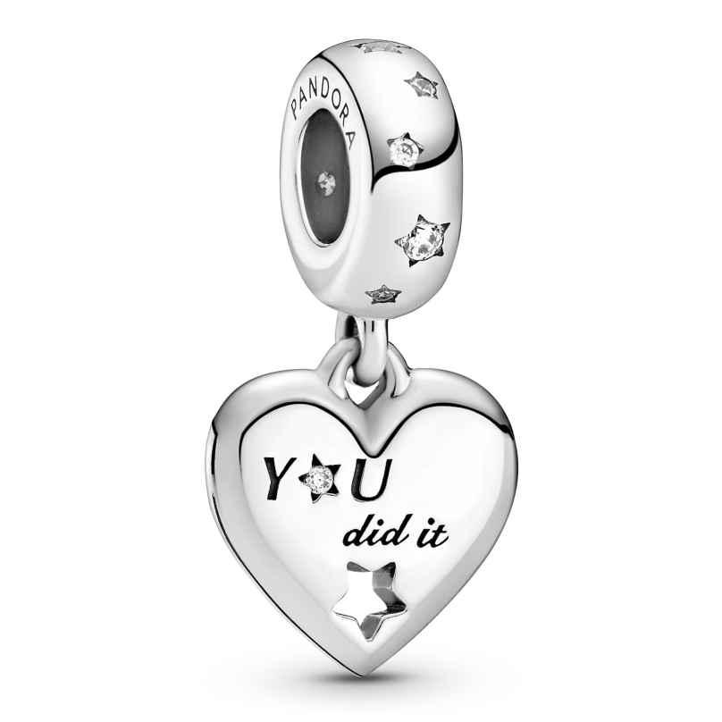 Pandora 799323C01 Silber Charm-Anhänger Gratulation Herz und Sterne 5700302916607