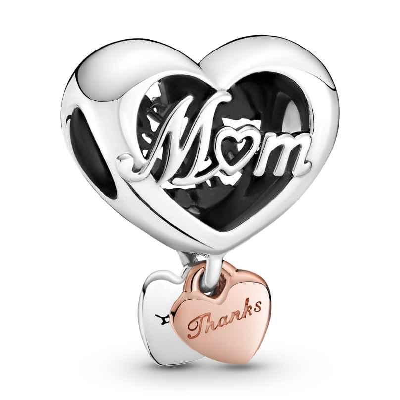 Pandora 789372C00 Rose Charm Danke Dir Mum 5700302916904