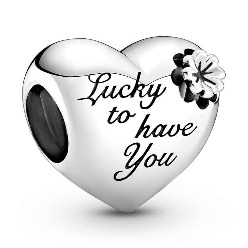Pandora 799364C00 Silver Charm Heart & Clover 5700302916928