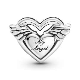 Pandora 799367C00 Silver Charm Angel Wings & Mum