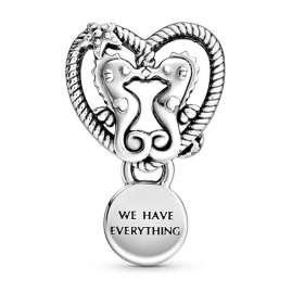 Pandora 798949C00 Silber Charm Offenes Seepferdchen Herz
