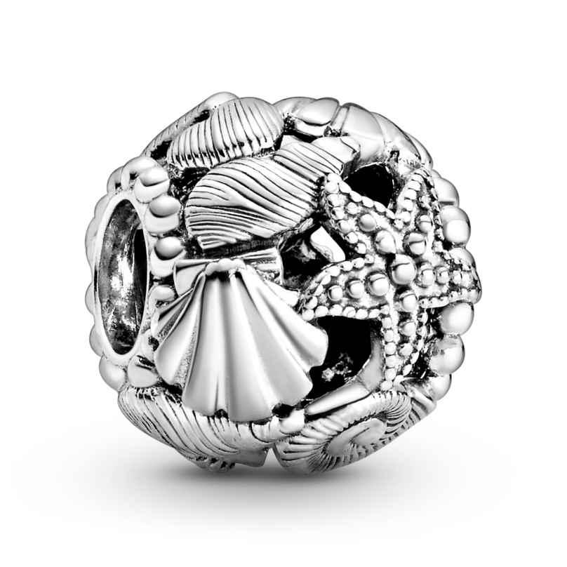 Pandora 798950C00 Silber Charm Offen Seestern, Muscheln und Herzen 5700302877359