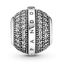 Pandora 799489C01 Silver CHarm Pave & Logo