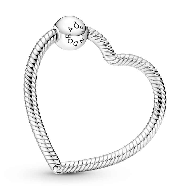 Pandora 399505C00 Charm Holder Silver Heart 5700302938838