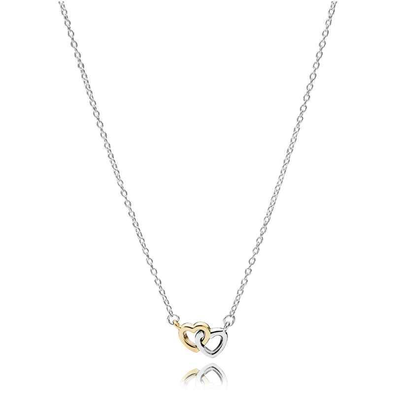 Pandora 590517 Verschlungenes Doppel-Herz Halskette 5700302408706