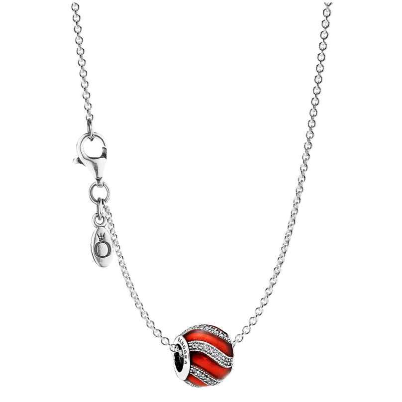 Pandora 08024 Halskette mit Anhänger Ornament Rot 4260497080244