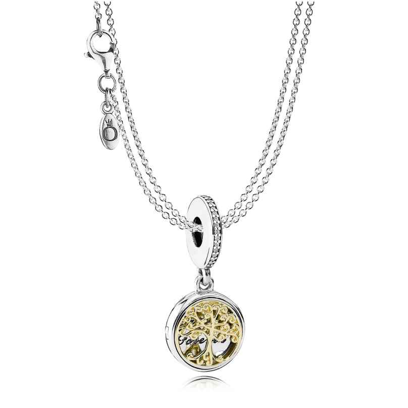 Pandora 08381 Silber-Halskette mit Anhänger Familien-Stammbaum 4260497083818