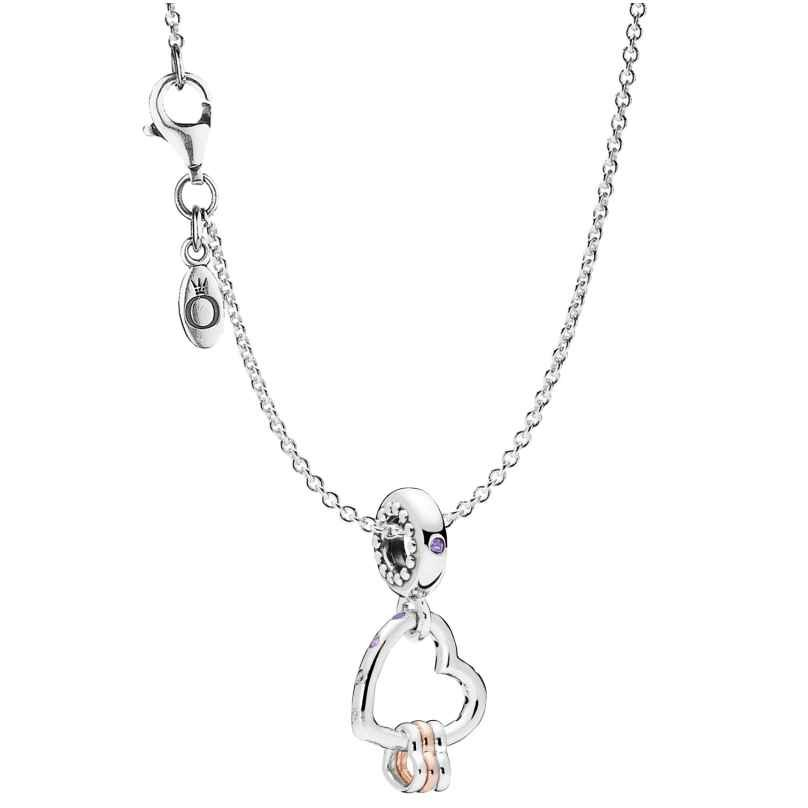 Pandora 75252 Necklace with Charm Heart Highlights Silver 925 4260641752522