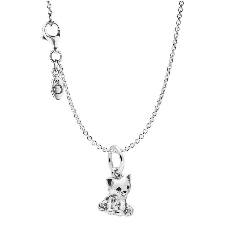 Pandora 75253 Halskette mit Anhänger Sweet Cat Silber 925 4260641752539