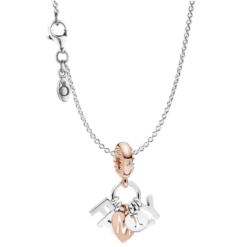 Pandora 75393 Halskette mit Anhänger Perfect Family Silber 925 4260641753932