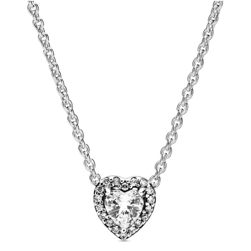 Pandora 398425C01-45 Damen-Halskette Elevated Heart 5700302826234