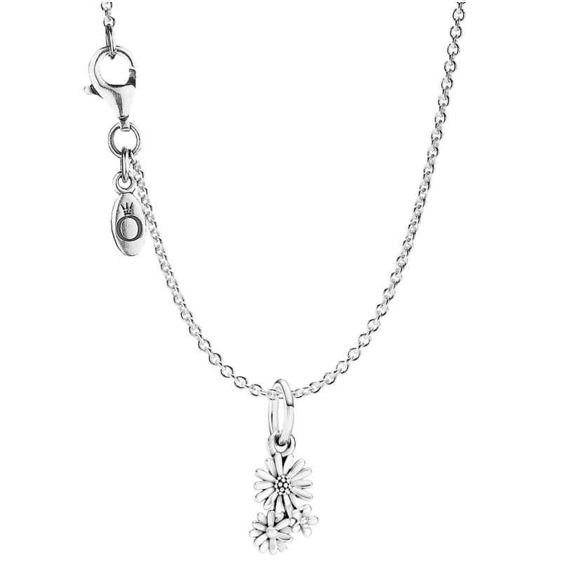 Pandora 75712 Silber Damen-Halskette Gänseblümchen-Strauß 4260641757121