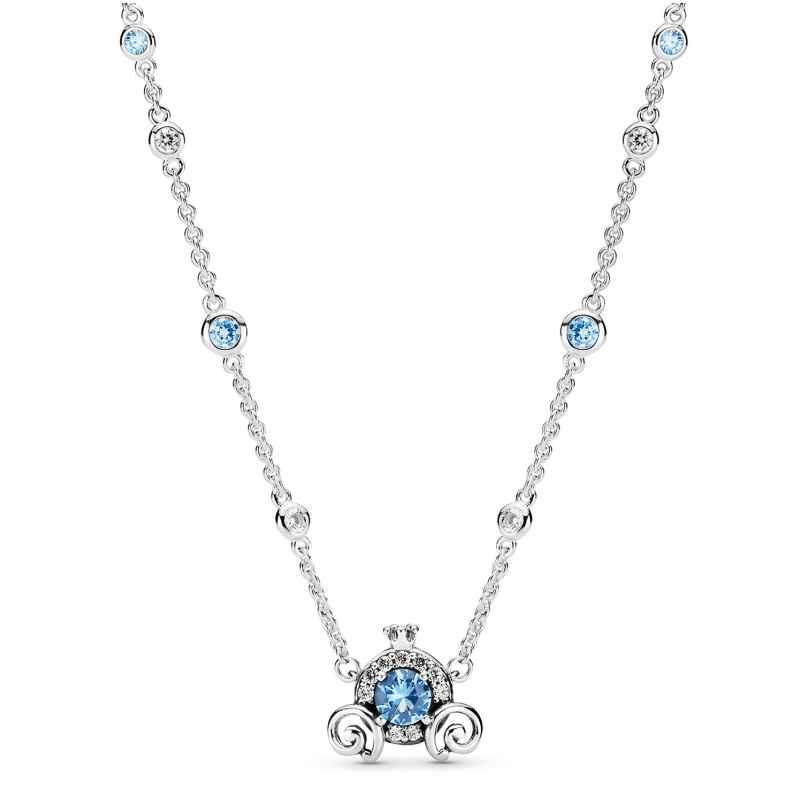 Pandora 399198C01-45 Damen-Collier Cinderella Kürbis-Kutsche Silber 5700302899931