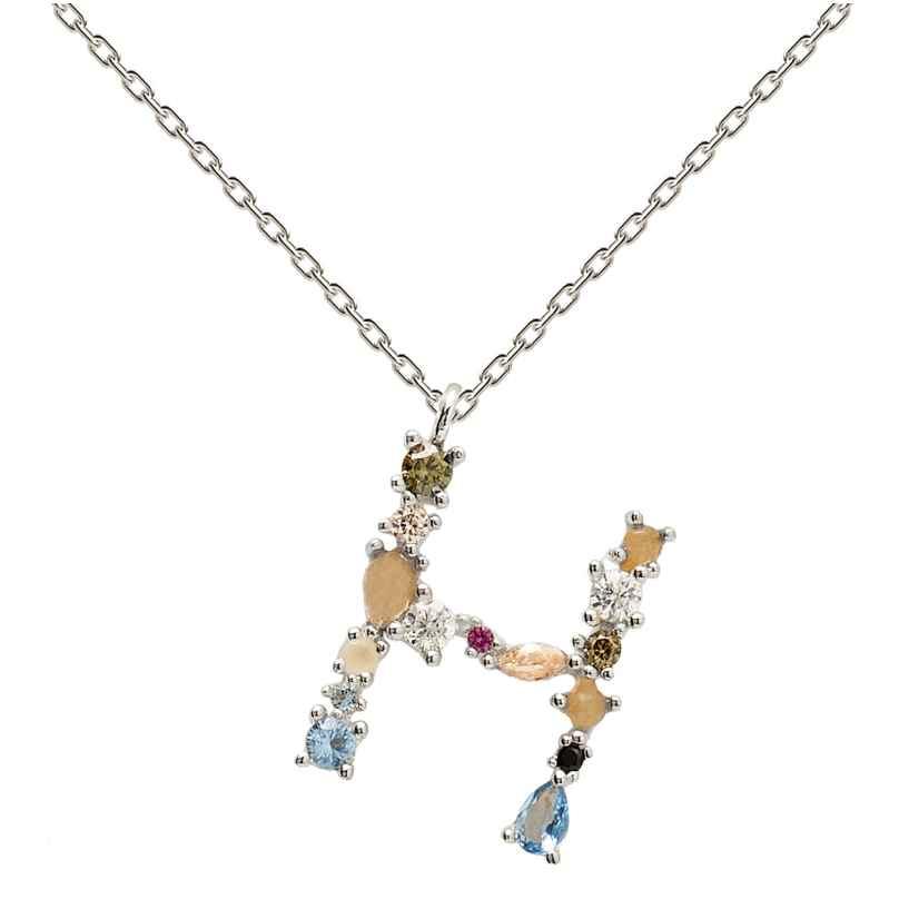 P D Paola CO02-103-U Damen-Halskette Buchstabe H Silber 8435511709937