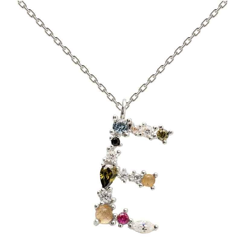 P D Paola CO02-100-U Women's Necklace Letter E Silver 8435511709906