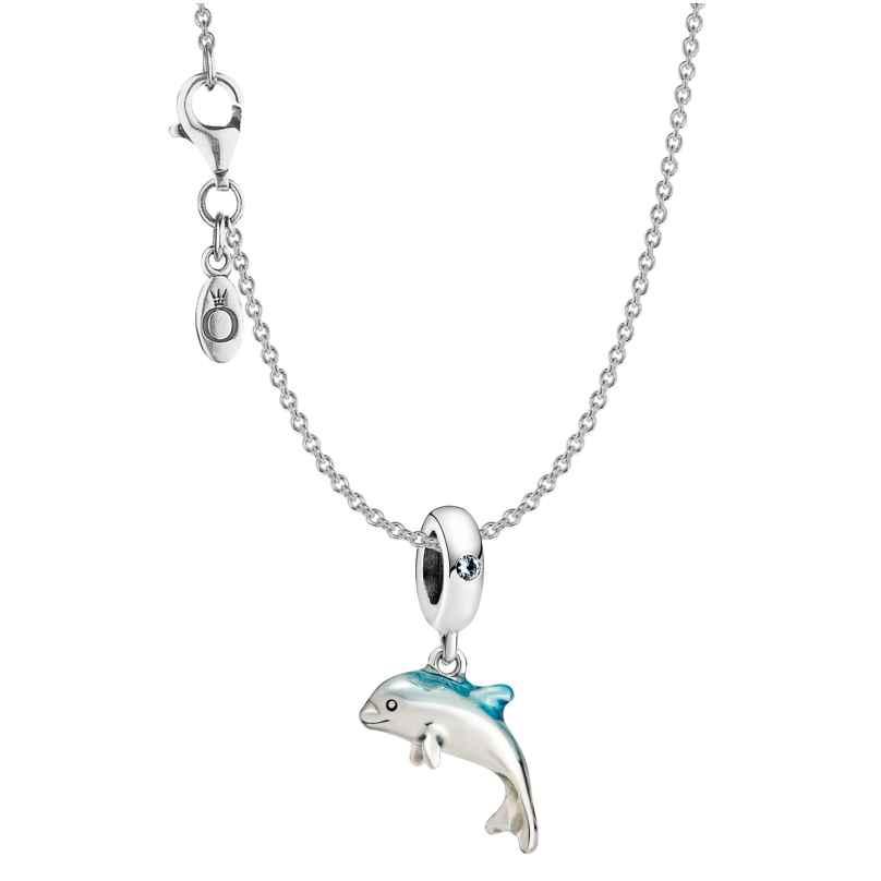 Pandora 51164 Damen-Collier Schimmernder Delphin Silber 4260727511647