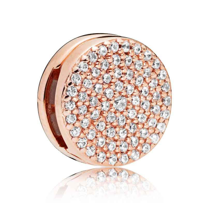 Pandora 787583CZ Reflexions Clip Charm Dazzling Elegance Rose 5700302698084