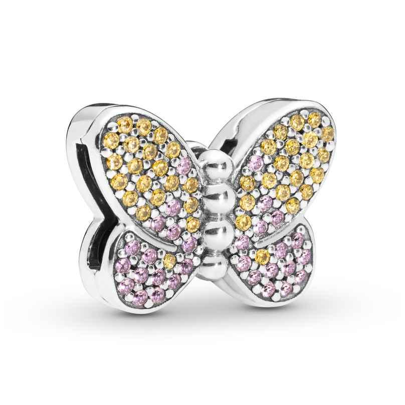 Pandora 797864CZM Reflexions Clip Charm Schmetterling Silber 5700302765106