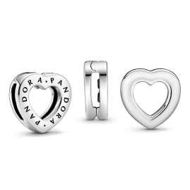 Pandora 798741C00 Reflexions Silber Clip Charm Logo Herz