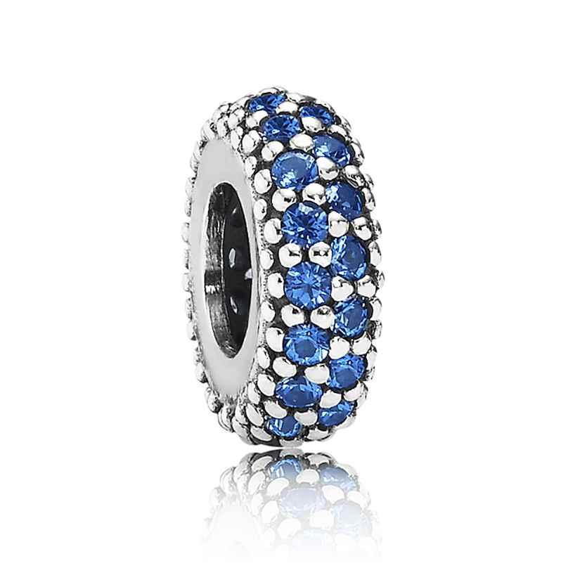 Pandora 791359NCB Silber Zwischenelement Blaue Zirkonias 5700302261974