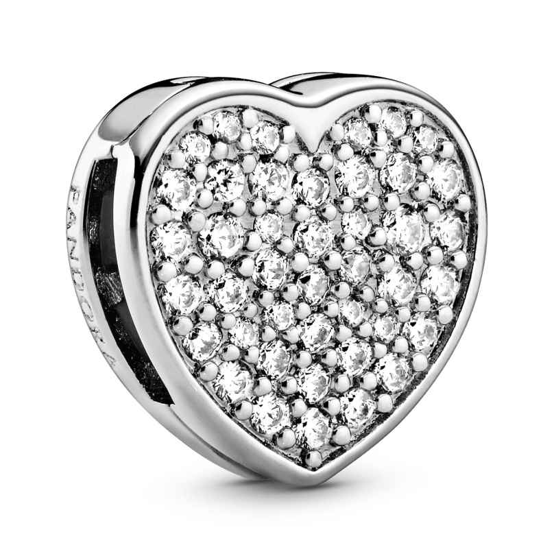 Pandora 798684C01 Reflexions Silber Clip Charm Pavé Herz 5700302844788