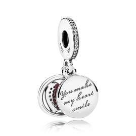 Pandora 792149EN24 Charm-Anhänger Ergebenes Herz