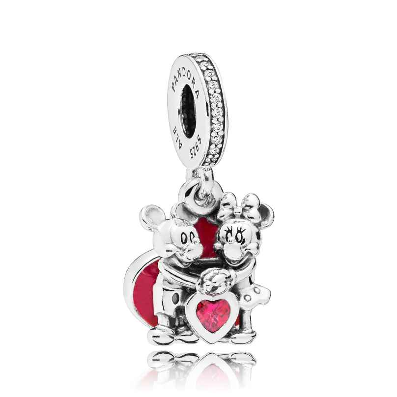 Pandora 797769CZR Charm Pendant Minnie & Mickey with Love 5700302745542