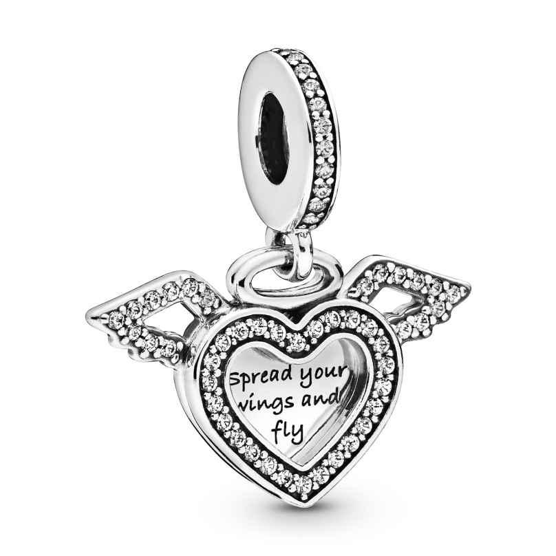 Pandora 798485C01 Silber Charm-Anhänger Herz mit Engelsflügel 5700302827286