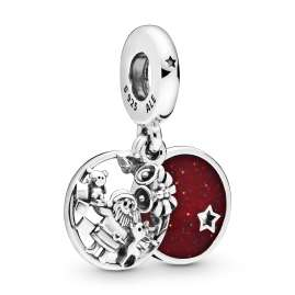 Pandora 798468C01 Silver Charm Pendant Santa Love Peace Joy