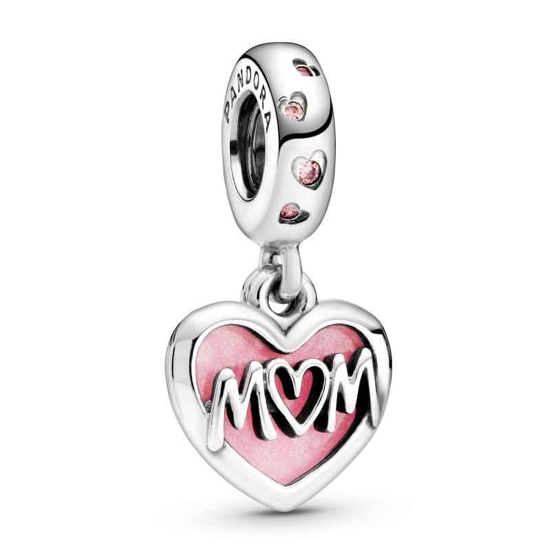 Pandora 798887C01 Silver Dangle Charm Mum Script Heart 5700302869736