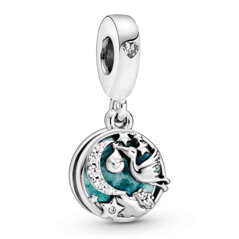 Pandora 798895C01 Silber Charm-Anhänger Storch & Funkelnde Sterne 5700302869750