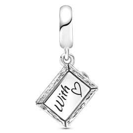 Pandora 799108C00 Silber Charm-Anhänger Kreidetafel