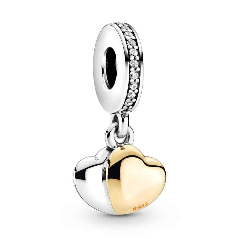 Pandora 799162C01 Charm-Anhänger Doppelherz Silber 5700302900262