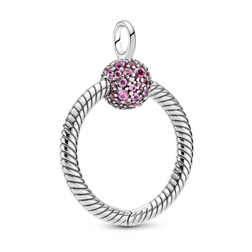 Pandora 399097C02 Anhänger Moments Pink Pavé O 25 mm Silber 5700302908367