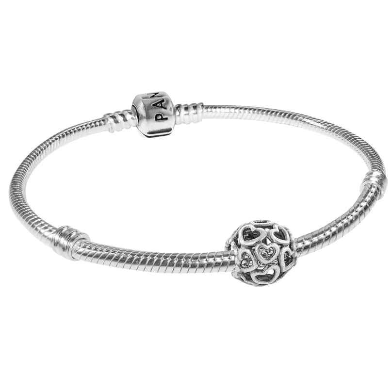 Pandora 79244 Starter-Armband für Damen Hearty Silber