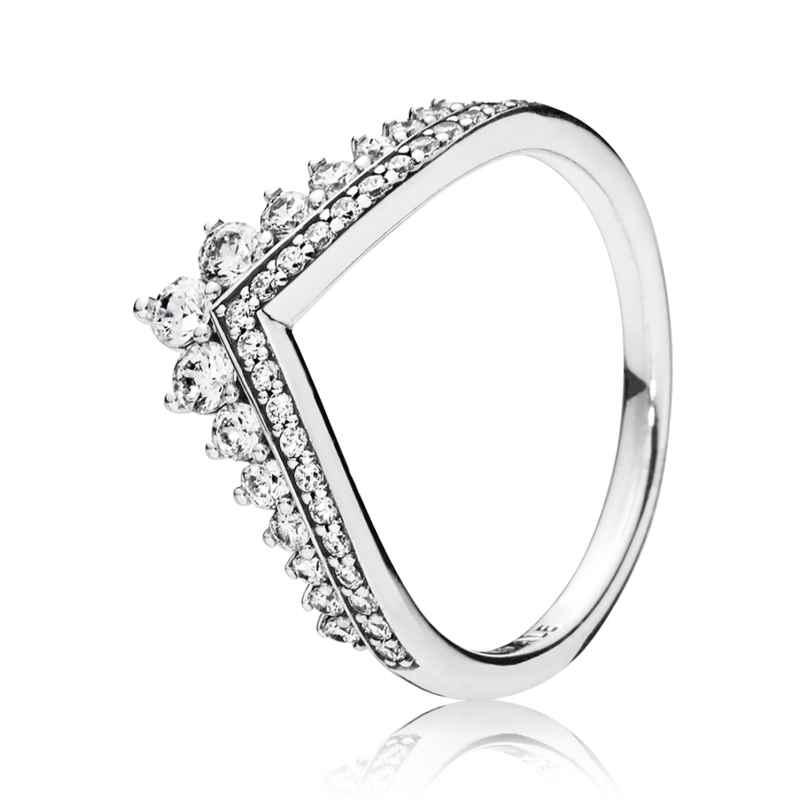 Pandora 197736CZ Ladies' Ring Princess Wish