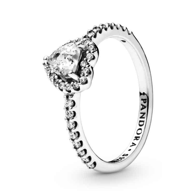 Pandora 198421C01 Ladies' Ring Elevated Heart